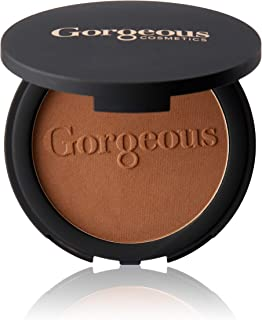 Gorgeous Cosmetics Endless Summer Bronzing Powder, Matte Finish for Face and Body, Compact with Mirror, Highly Pigmented a...