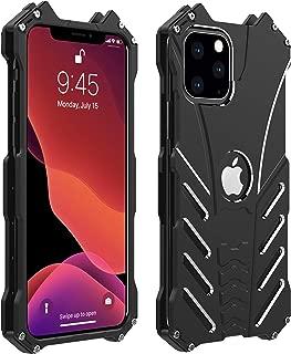 Metal Back Case for iPhone 11 Pro Max, Bpowe Shockproof Anti-Drop Aerospace Aluminum Light Shockproof Case with bat Kickstand for iPhone 11 Pro Max 6.5