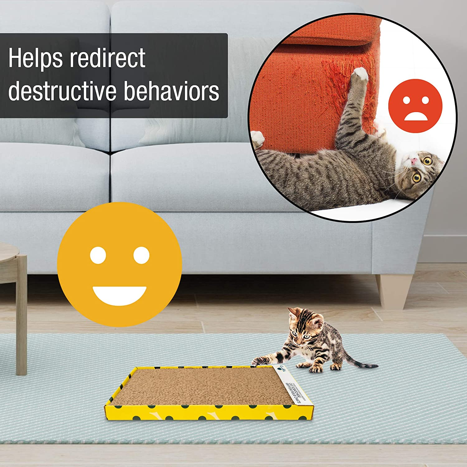 Our Pets Straight and Narrow Single Wide Reversible Cat Scratcher