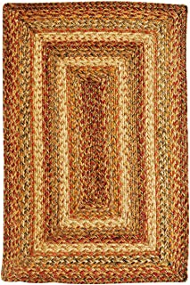 Homespice Rectangular Jute Braided Rugs, 20-Inch by 30-Inch, Harvest