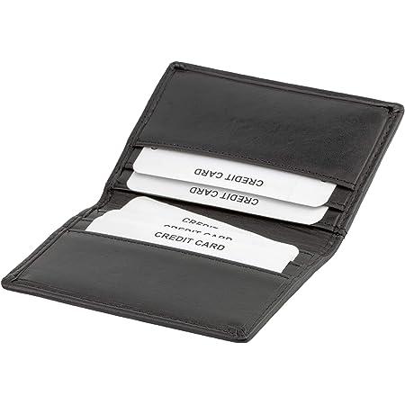 Credit Card Holder RFID Blocking- Slim Thin Leather Card Case - Perfect Front Pocket Leather Wallet - KUK-77PBL by Koruma