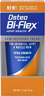 Pain Relieving Cream by Osteo Bi-Flex, Arthritis Pain Relief, Joint and Muscle Rub Pain Relieving Cream, Non-Greasy, Light Menthol Scented Cream Helps with Neck, Hip, Back, Hand, Joint Pain, 2.5 Ounce