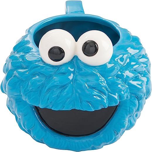Vandor Sesame Street Cookie Monster 20 oz. Sculpted Keramik-Becher