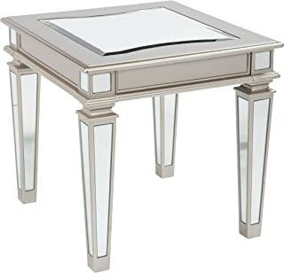 Signature Design by Ashley - Tessani Contemporary Rectangular End Table, Silver