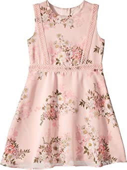 Printed Chiffon Dress (Toddler/Little Kids)
