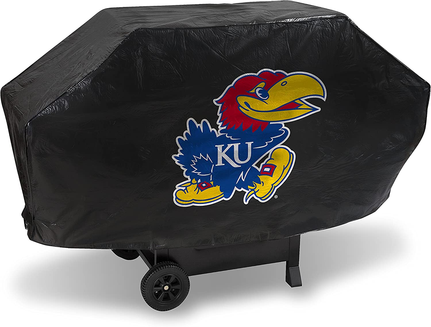 Max 45% OFF NCAA Rico Industries Vinyl Padded Kansas Deluxe Grill Cover New life Jay