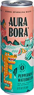 Sponsored Ad - Aura Bora Herbal Sparkling Water Peppermint Watermelon, 12 oz Can (Pack of 12)