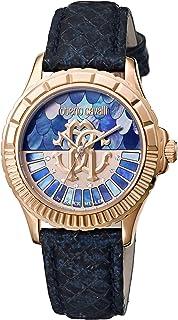 ساعة روبيرتو كافالي للنساء RC-23 كوارتز مع سوار ستانلس ستيل، فضي/وردي ذهبي، 18 موديل RV2L014L0046