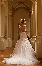 Josephine, wedding dress, mermaid, milky white, lace, train