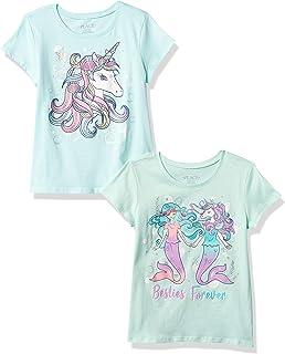 The Children's Place girls Girls Graphic Tee 2-Pack T-Shirt