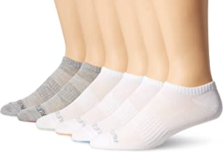 Fruit of the Loom Men's Ankle Quarter Socks (6 Pack) with Cushion and Arch Support