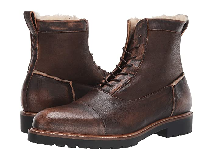 1950s Mens Shoes: Saddle Shoes, Boots, Greaser, Rockabilly Ross  Snow Riccardo Supreen Boot Bomber Brown Mens Boots $495.00 AT vintagedancer.com