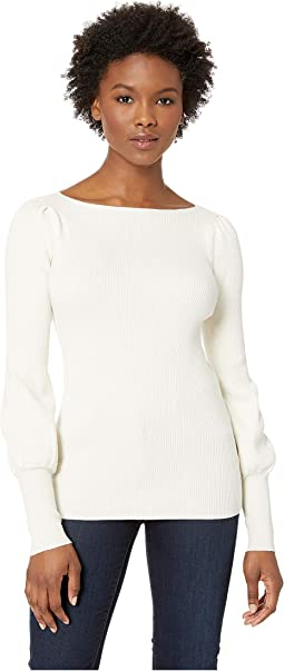 Petite Puffed-Sleeve Sweater