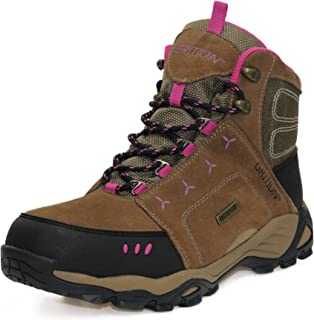 GRITION Women Hiking Boots Outdoor Traveler Waterproof Safety Backpacking Walking Shoes