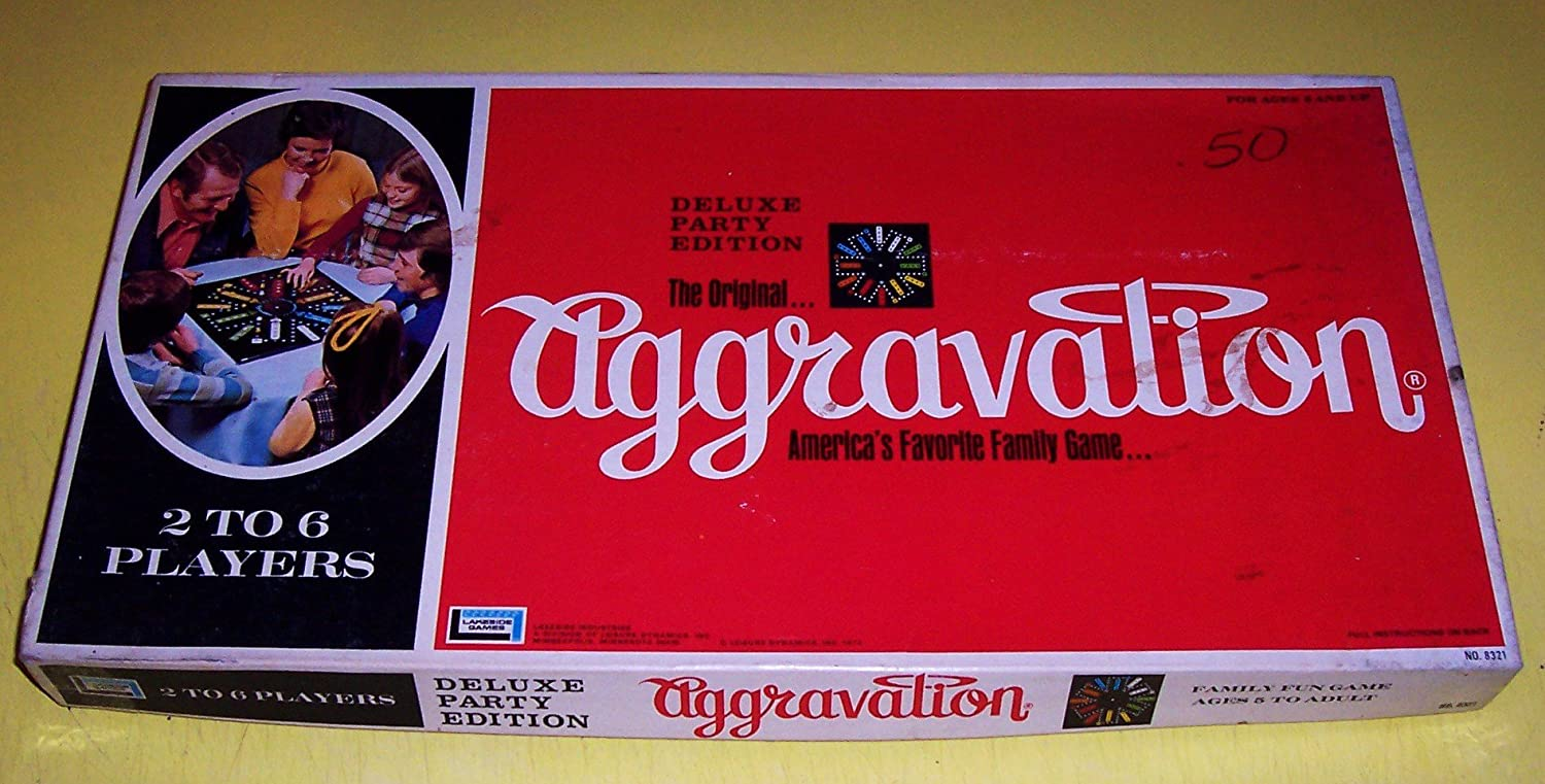 The Original Aggravation Deluxe Party Edition 1972