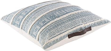 طقم وسادة سريا بوسان 0 سم × 76.2 سم، 76.2 سم × 76.2 سم، بيج، أزرق مخضر
