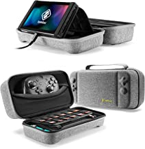 tomtoc Carrying Case for Nintendo Switch, Protective Hard Travel Case Storage Bag with 24 Game Cartridges and Handle for S...