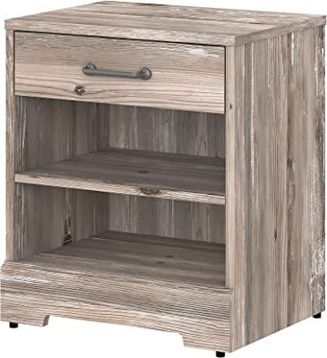 Bush Furniture Kathy Ireland Home River Brook Nightstand with Drawer