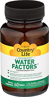 Country Life Water Factors - with Potassium and B6 for Electrolyte Balance - 60 Tablets