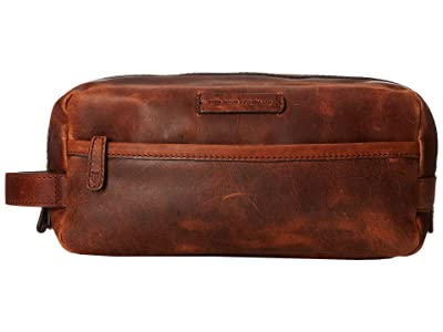 Frye Logan Travel Large Bag (Cognac Antique Pull Up) Toiletries Case