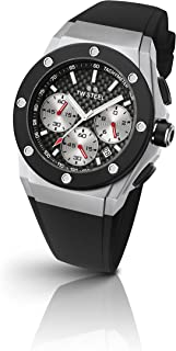 TW Steel Men's CEO Tech Stainless Steel Quartz Watch with Silicone Strap, Black, 30 (Model: CE4019)