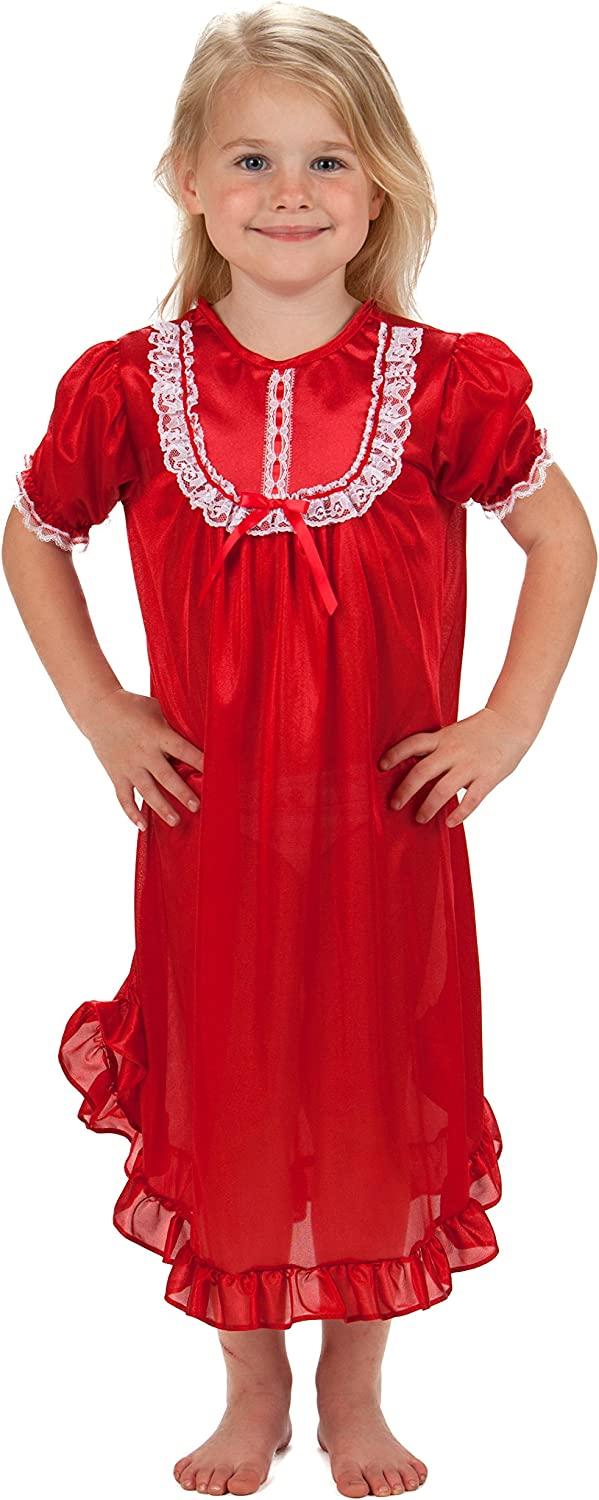 Laura Dare Baby Girls Short Sleeve Traditional Nightgown, (9m-24m)