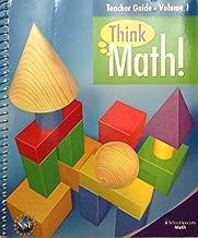 Think Math Teachers Guide Volume 1 Grade 3