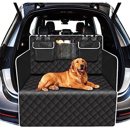 Alfheim Universal Kofferraumschutz Für Hunde Reißfeste Und Wasserdichte Kofferraum Hundematte Rutschfeste Waschbare Kofferraumabdeckung Mit Seitenschutz Schwarz Haustier