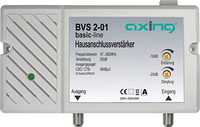 Axing BVS 2-65 - Amplificador de señal con retorno pasivo (25 dB)