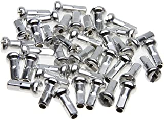 Wheelsmith 2.0 x 12mm Silver Brass Nipples, Bag of 50