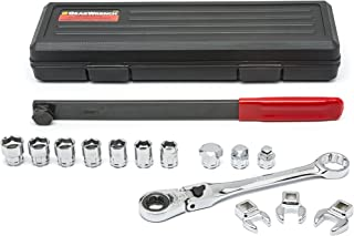 GEARWRENCH 15 Pc. Serpentine Belt Tool Set with Locking Flex Head Ratcheting Wrench - 89000