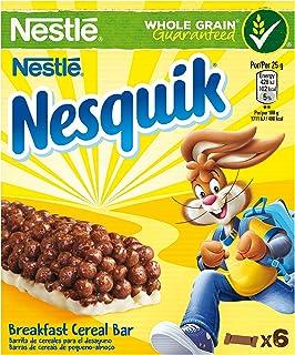 Nesquik - Barritas de Cereales con Chocolate - 4 Cajas de 6 Barritas de Cereales - Total: 24 Barritas