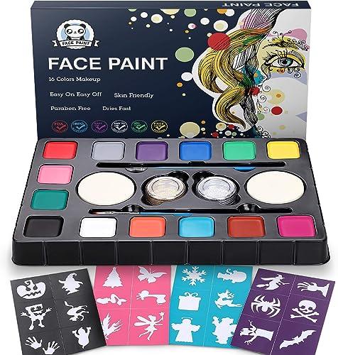 Maquillaje al Agua DOOKEY, Pinturas Cara para Niños, Pintura Cara Niños, Pintura Cara, Maquillaje al Agua, Pinturas Cara (Color 1) product image