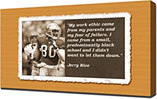Jerry Rice Quotes 4 - Canvas Art Print
