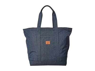 Herschel Supply Co. Bamfield Mid-Volume (Indigo Denim Crosshatch) Tote Handbags