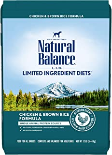 Natural Balance L.I.D. Limited Ingredient Diets Dry Dog Food, Chicken & Brown Rice Formula, 12 Pounds