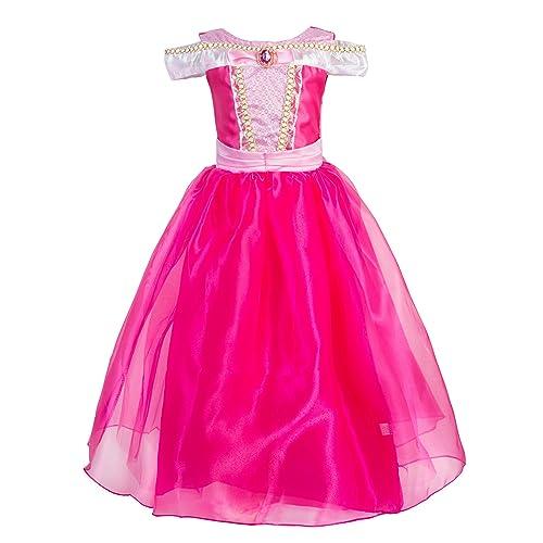 d16a9533653 Okidokiyo Little Girls Princess Aurora Costume Halloween Party Dress Up