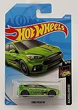 Hot Wheels 2019 Basic Mainline Nightburnerz: Ford Focus RS (Green) - International Card