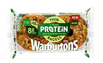 Warburtons 4 Seeded Protein Thin Bagels Sliced, 60 Grams