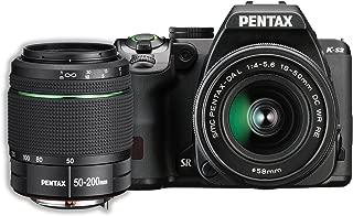 Pentax K-S2 20MP DSLR Two Lens Kit w/ 18-50mm WR & 50-200mm WR (Black)