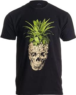 Pineapple Skull | Bizarre Goth Creepy Weird Fruit Illustration Art Men's T-Shirt
