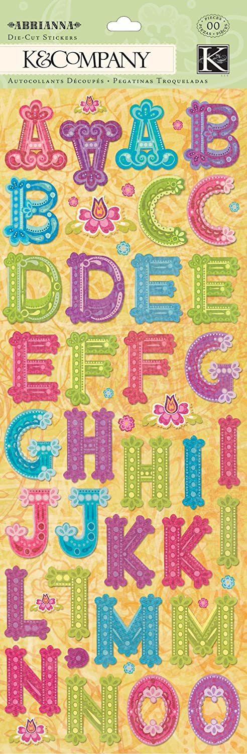 Abrianna Collection K Company Alphabet Die-Cut Sticker B004XNBKRC | Online Online Online Outlet Shop