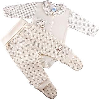 Sofija Ensemble bébé garçon & fille, body à manches longues, pantalon avec pieds, nouveau-né et tout-petit, ensemble de vê...