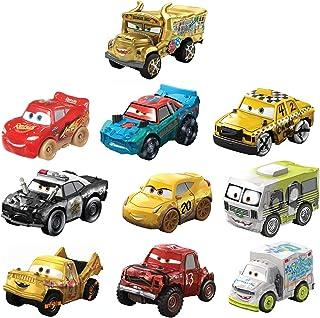 Disney Cars Mini Racers Derby Racers Pack de 10 coches de juguete, modelos surtidos (Mattel GKG09)
