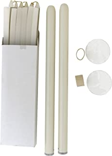 Forever Candles Refillable Taper Candles Starter Set (Ivory)