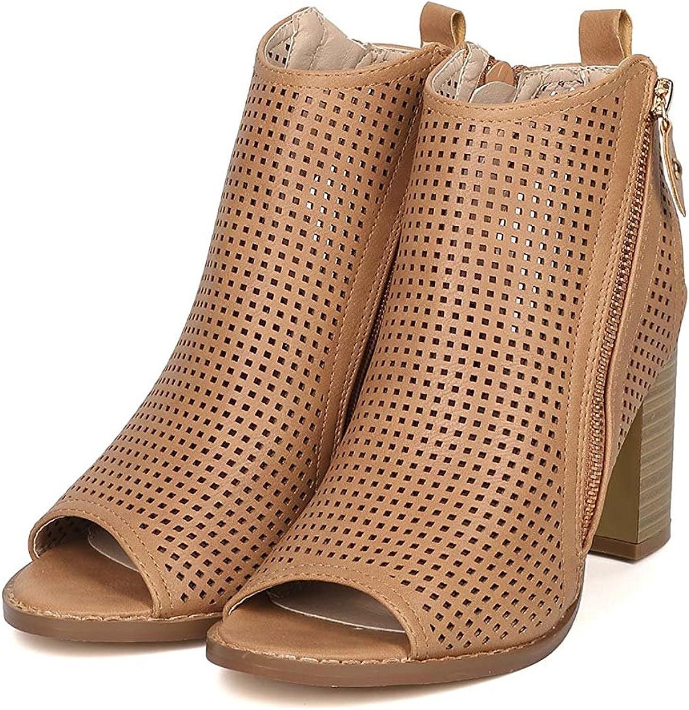 Women's Fashion Open Toe Pump Mid Chunky Heel Dress Sandals Casual shoes