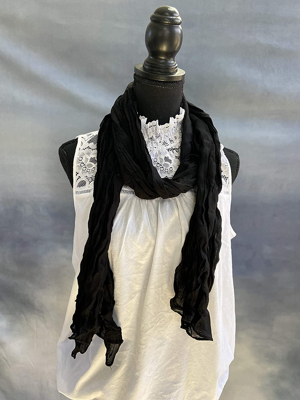 OllieByBeebz Cotton Scarf Shawl | Hijab Wrap | All Seasons Fashion | Soft Scarves for Women | Lightweight Full Crinkly