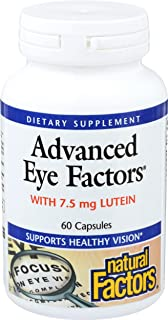 Natural Factors, Advanced Eye Factors, Antioxidant Support for Healthy Vision with Lutein and Zeaxanthin, 60 capsules (30 ...