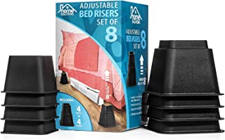 Home Solutions Premium Adjustable Bed Risers or Furniture Risers 3, 5 or 8-Inch Bed Riser, Table Risers, Chair Risers or S...