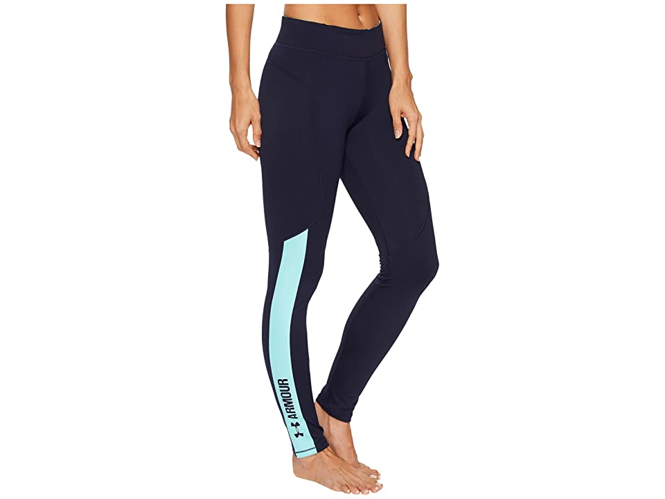 Under Armour UA Coldgear(r) Armour Graphic Leggings (Midnight Navy/Blue Infinity/Metallic Silver) Women's Workout